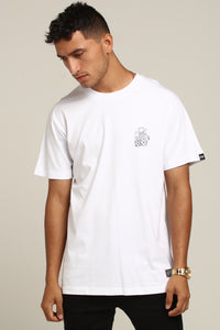 NO REGRETS SS TEE - White