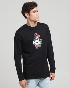 RGF x DW BENT BACK LS TEE - Black