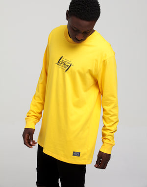 Rats Get Fat Been Cut Throat LS Tee Mustard