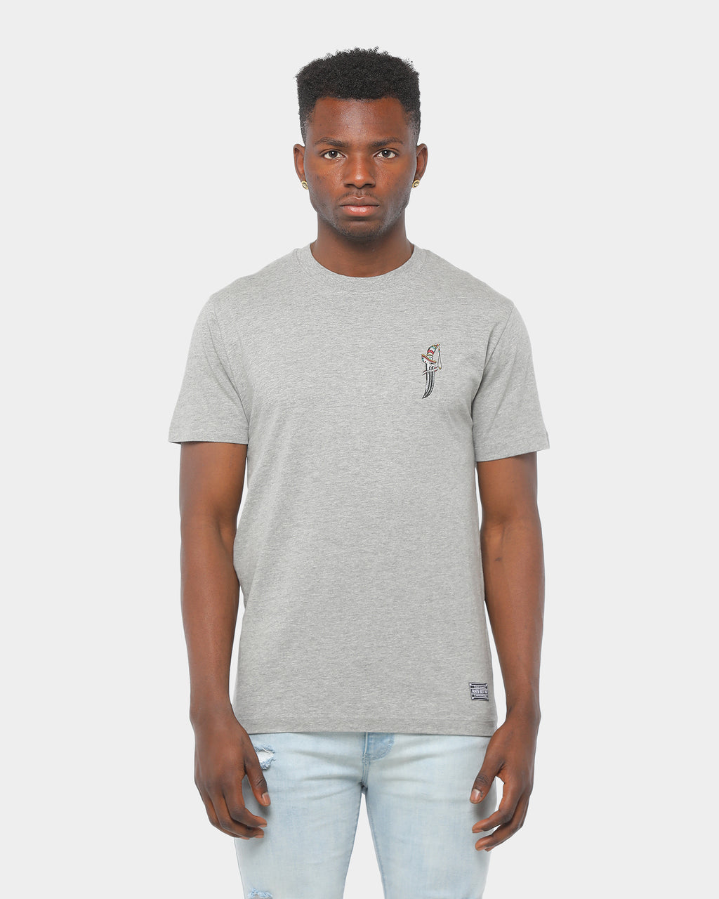 Rats Get Fat Bayonet Tee Grey