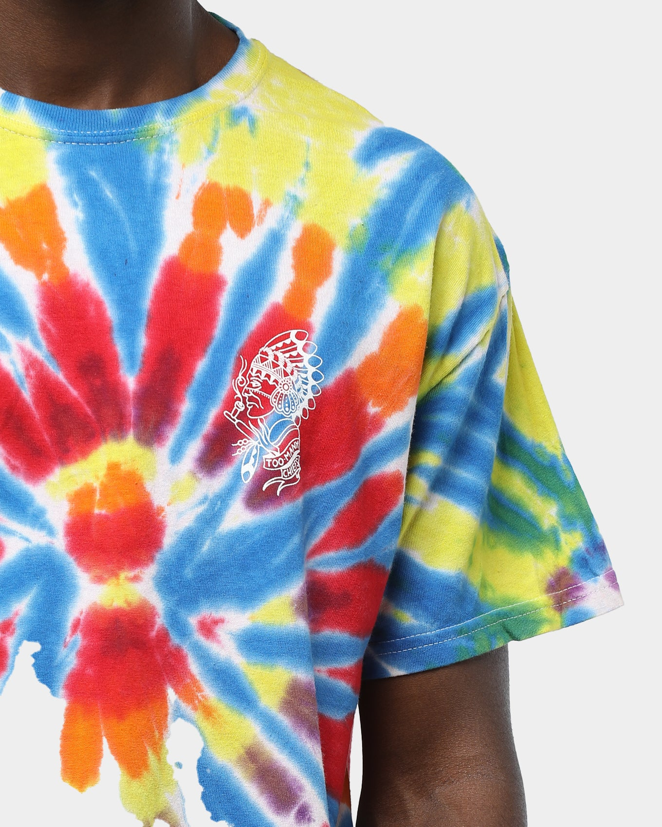 Rats Get Fat Cut Kaleidoscope Tee Multi Tie Dye
