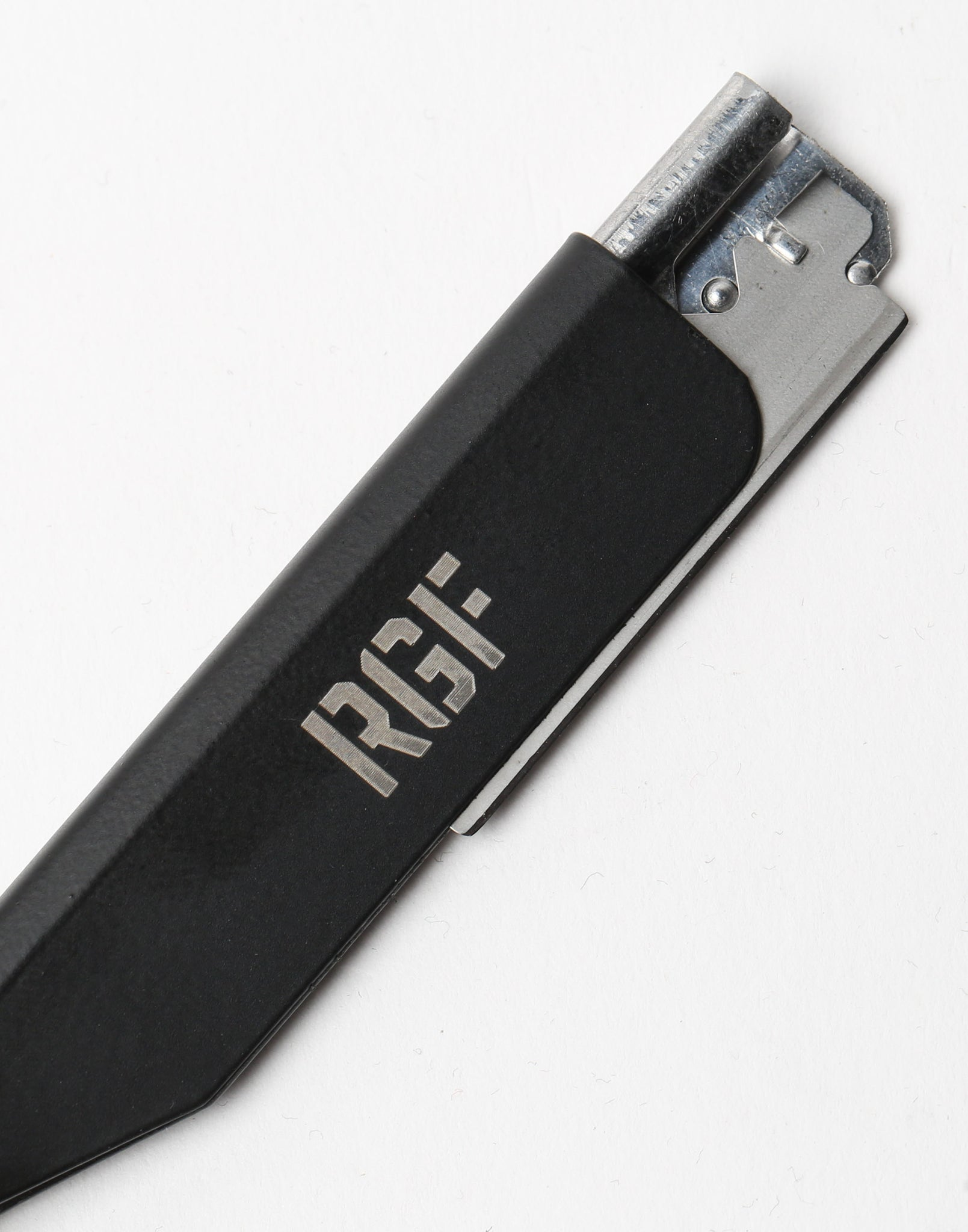 Rats Get Fat Cut Throat Razor Matte Black