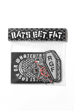 Rats Get Fat Iron On Patch Bag 1 Multi-coloured