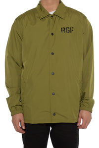 STENCIL COACH JACKET - Army Green
