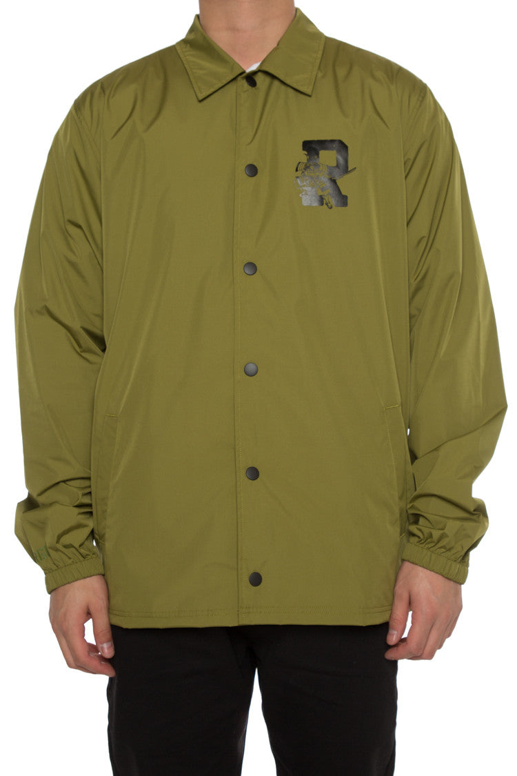 DAMAGE COACH JACKET - Army Green