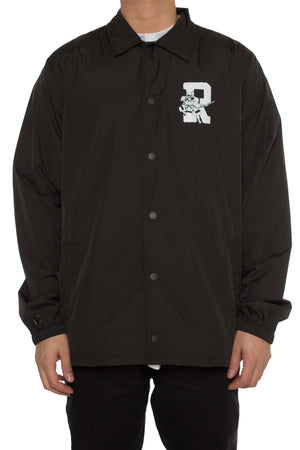 DAMAGE COACH JACKET - Black