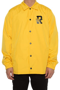 DAMAGE COACH JACKET - Mustard