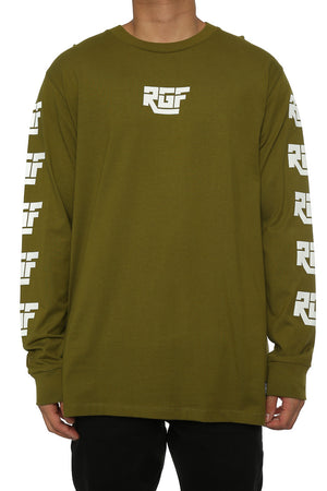 DHL LS TEE - Army Green
