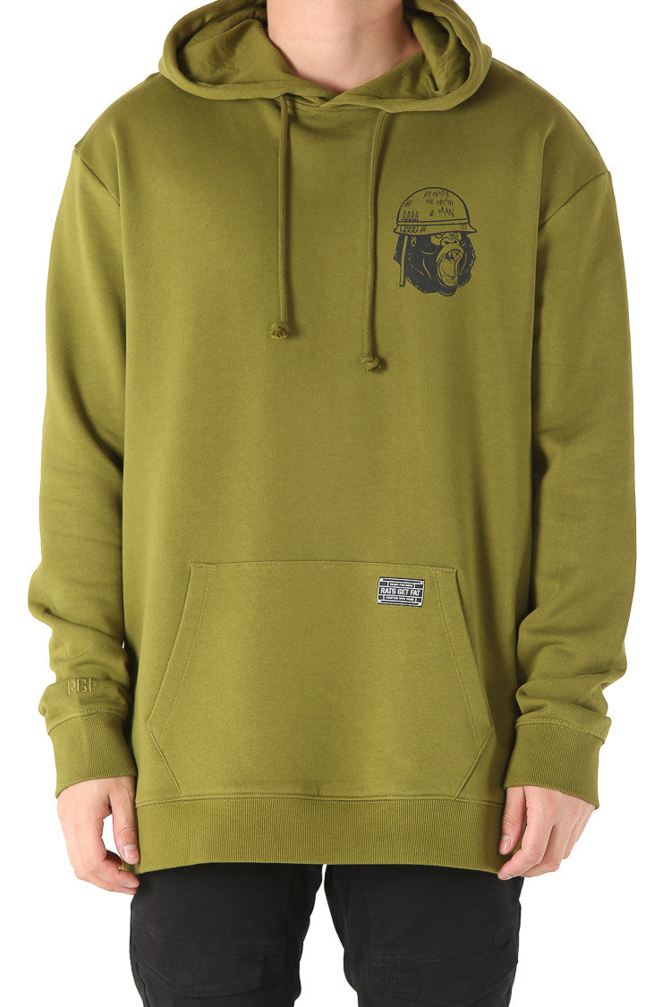 GORILLA WARFARE HOOD - Army Green