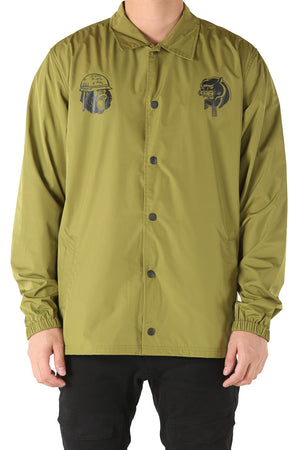 A-SQUADRON COACH JACKET - Army Green