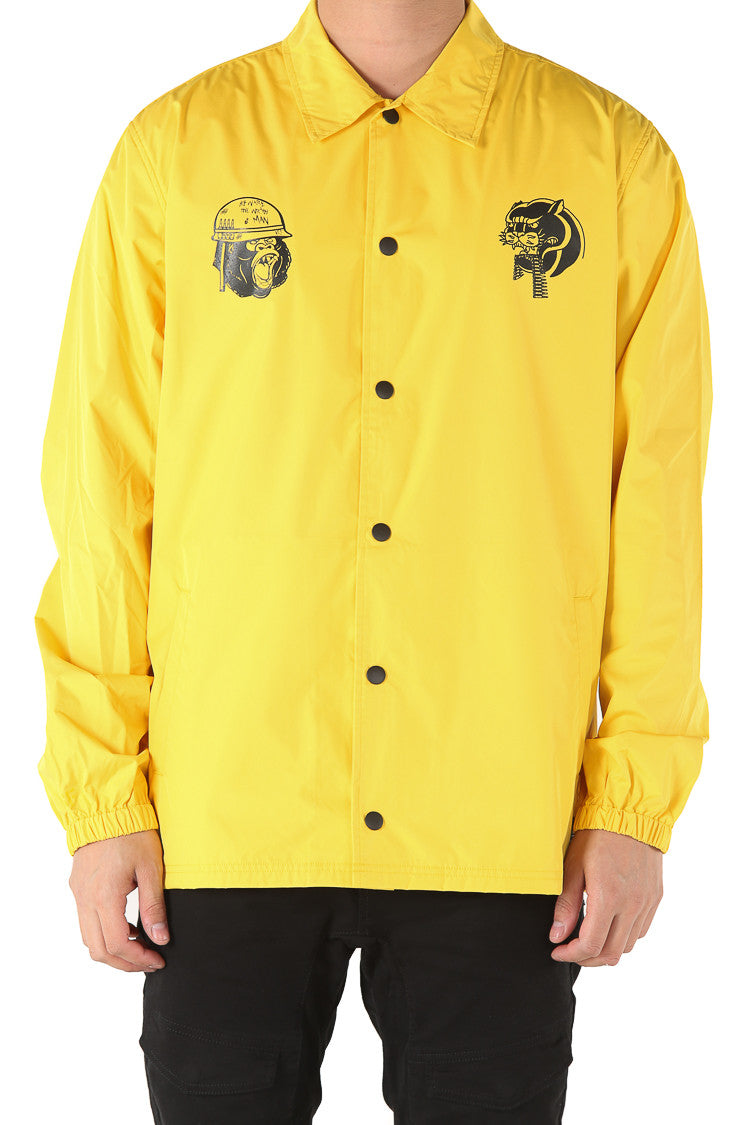 A-SQUADRON COACH JACKET - Mustard