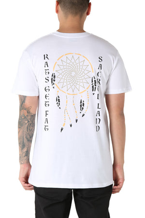 CATCHER - SACRED LAND TEE - White