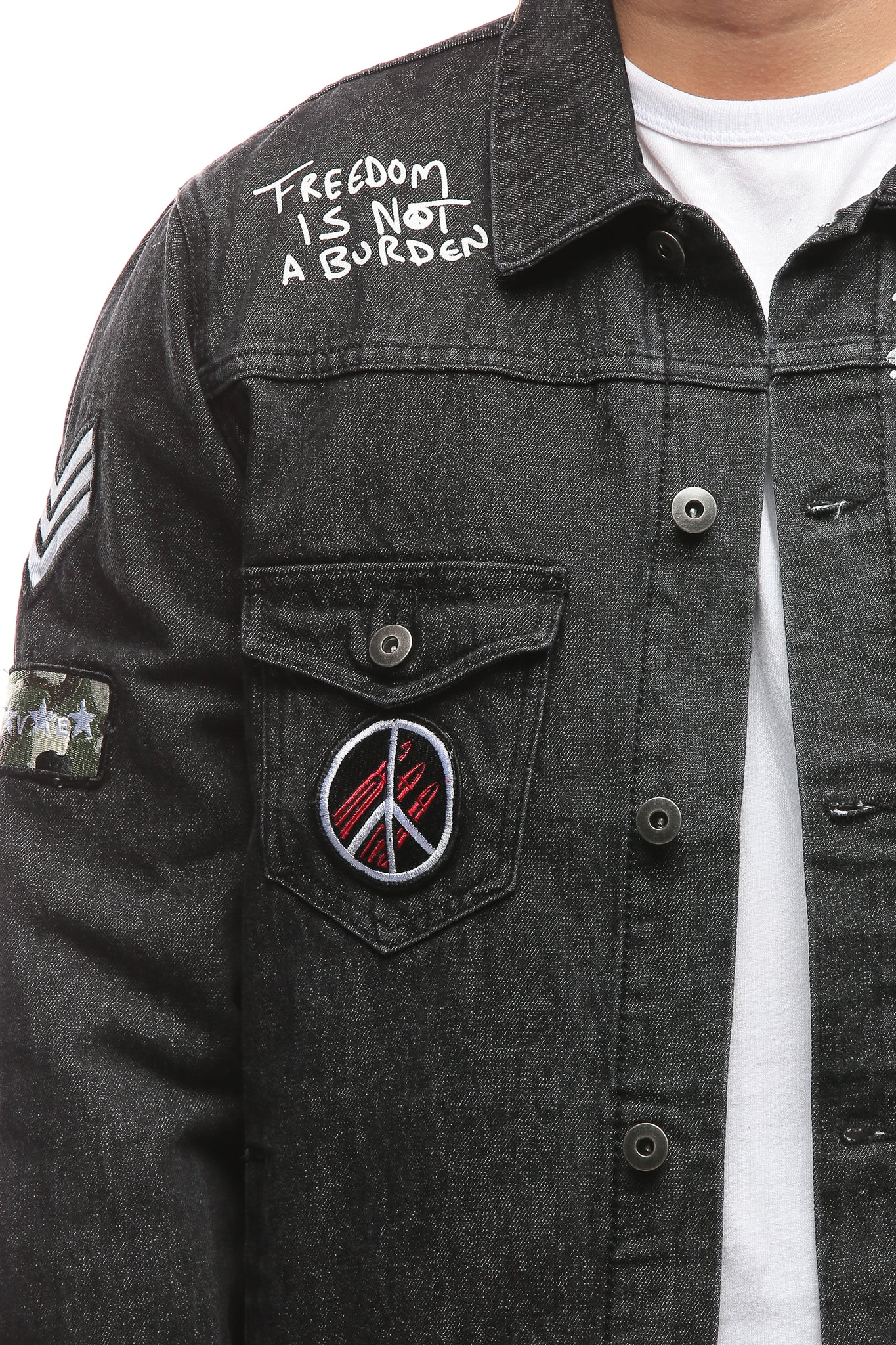 FRONTIER DENIM JACKET - Black