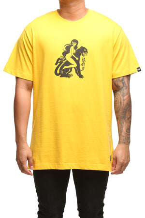 RGF X LY PANTHER SS TEE - Mustard