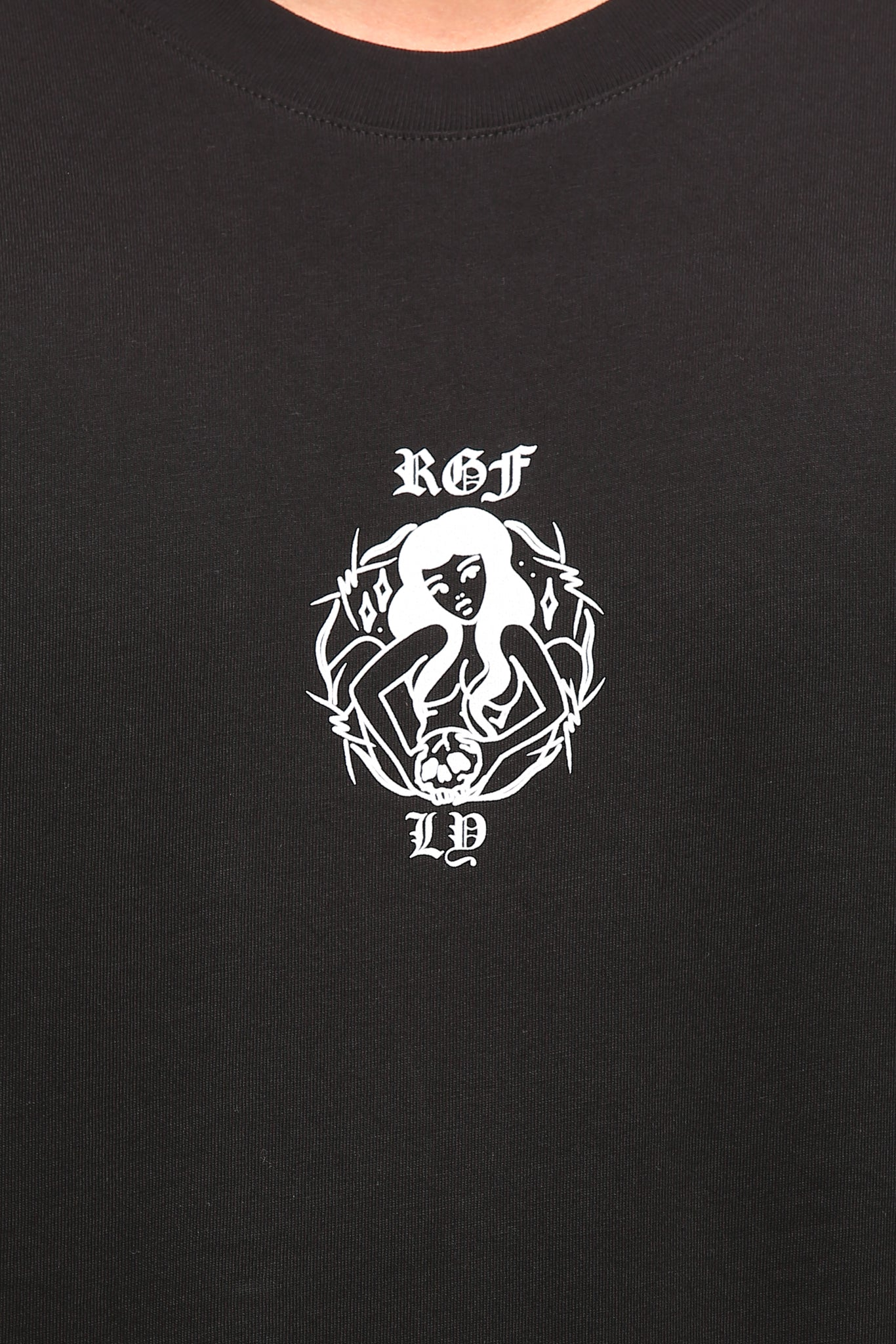 RGF X LY RUSSIAN GIRL SS TEE - Black