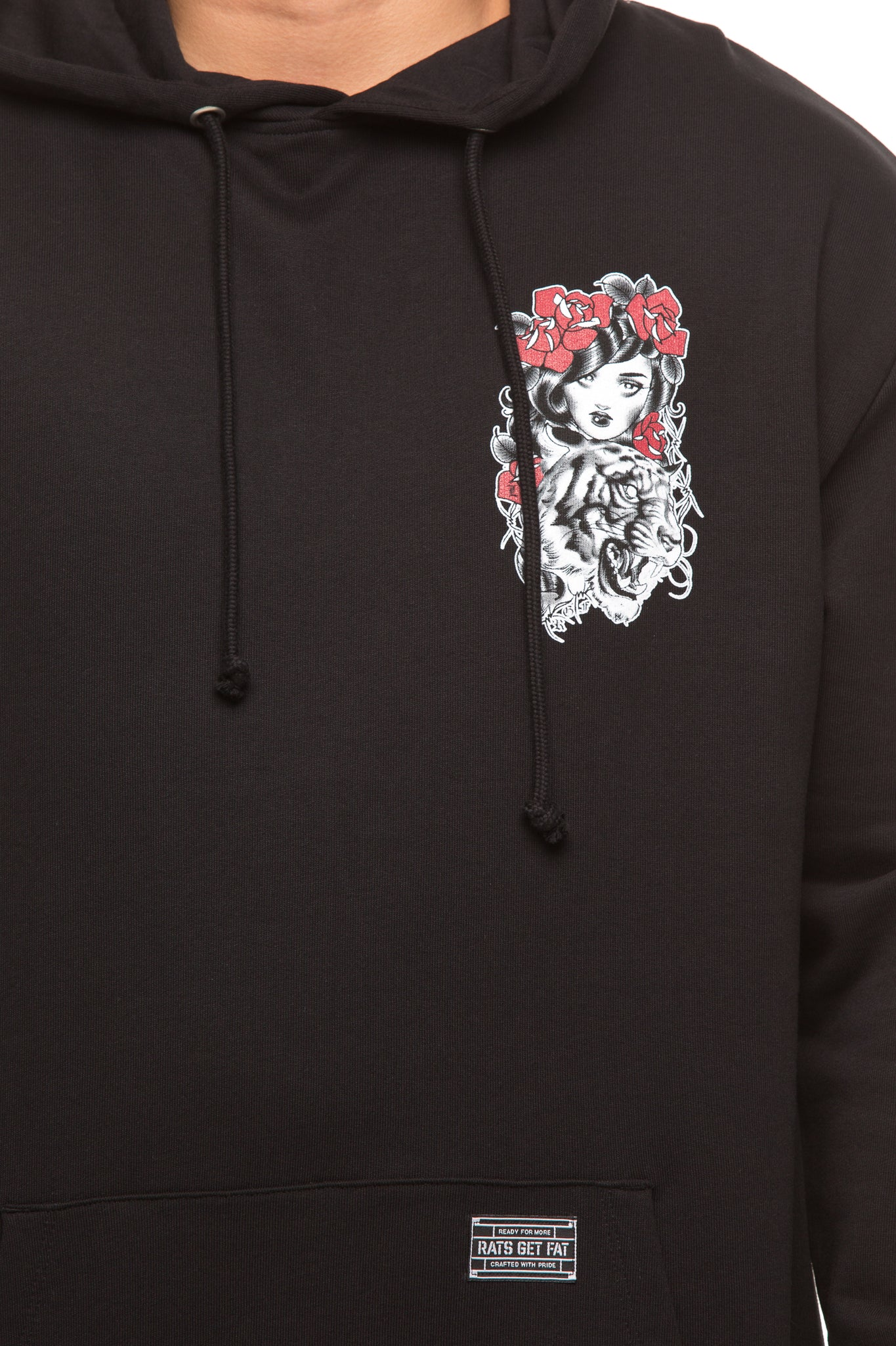 RGF X LY TIGER HOOD - Black