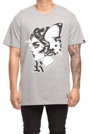 RGF X LY BUTTERFLY 2 TEE - Grey