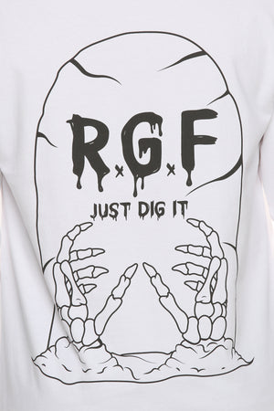 JUST DIG IT LS TEE - White