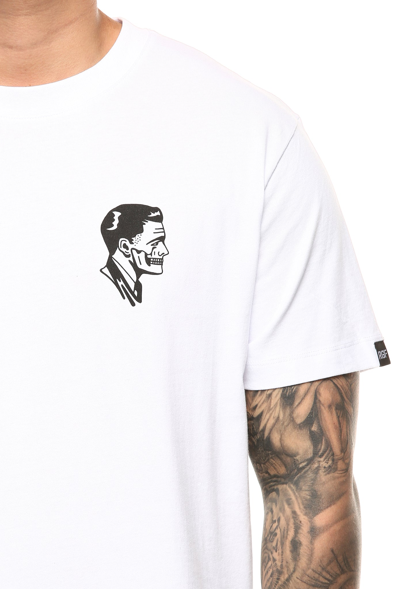 RGF X H.S FACE OFF SS TEE - White