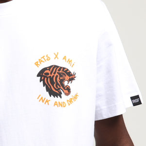 RGF X AJ INK & DRINK SS TEE - White