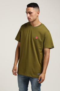 FULL BLOOM SS TEE - Army