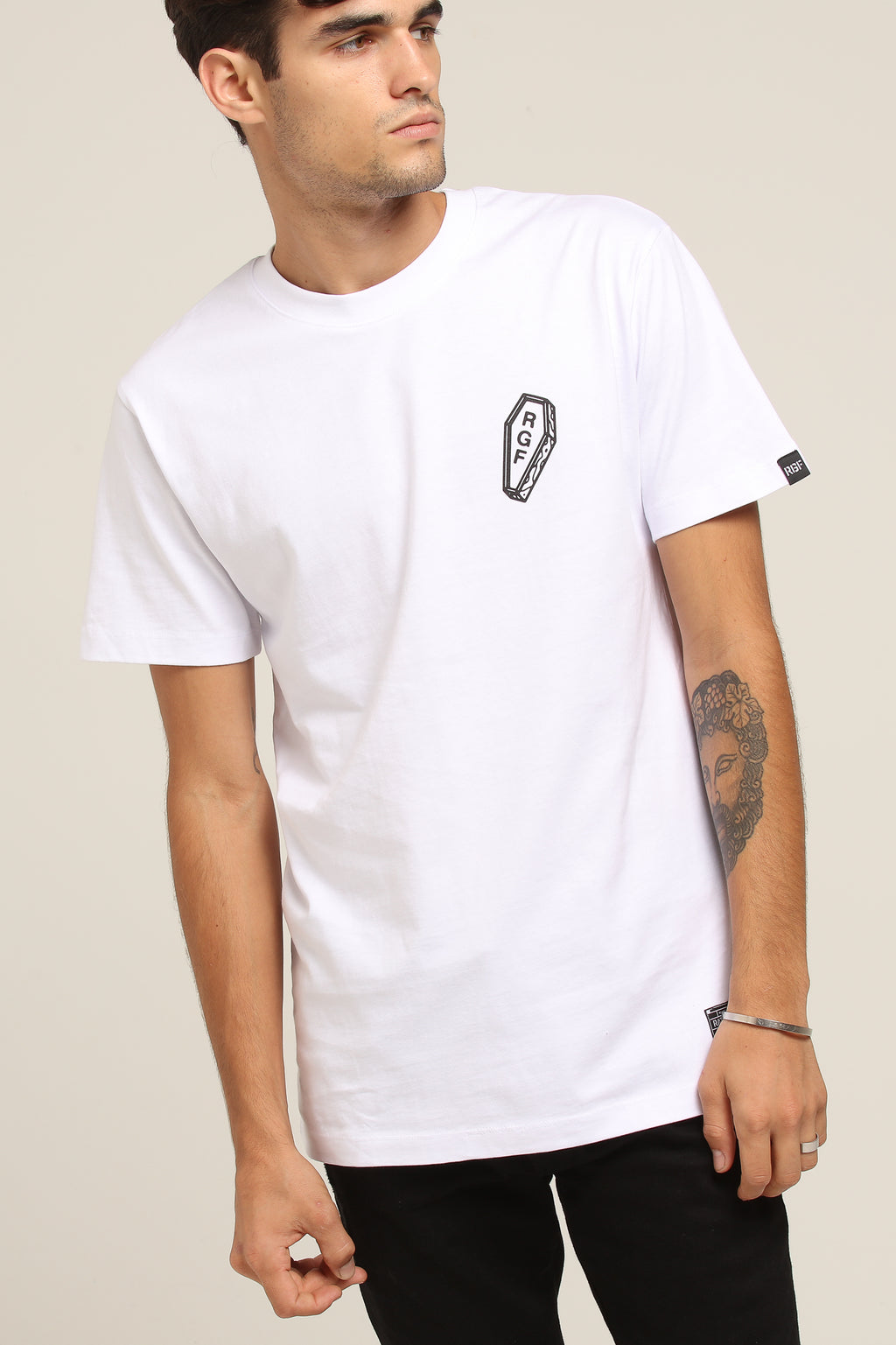 ONLY REST IN THE COFFIN TEE - White
