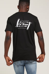 BEEN CUT THROAT TEE - Black