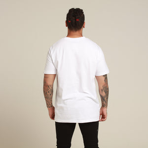Rats Get Fat Razor SS Tee White