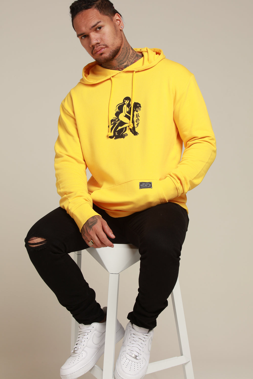 LY PANTHER HOOD - Mustard