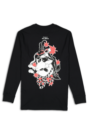Rats Get Fat X Dale Winter Bent Back LS Tee Black