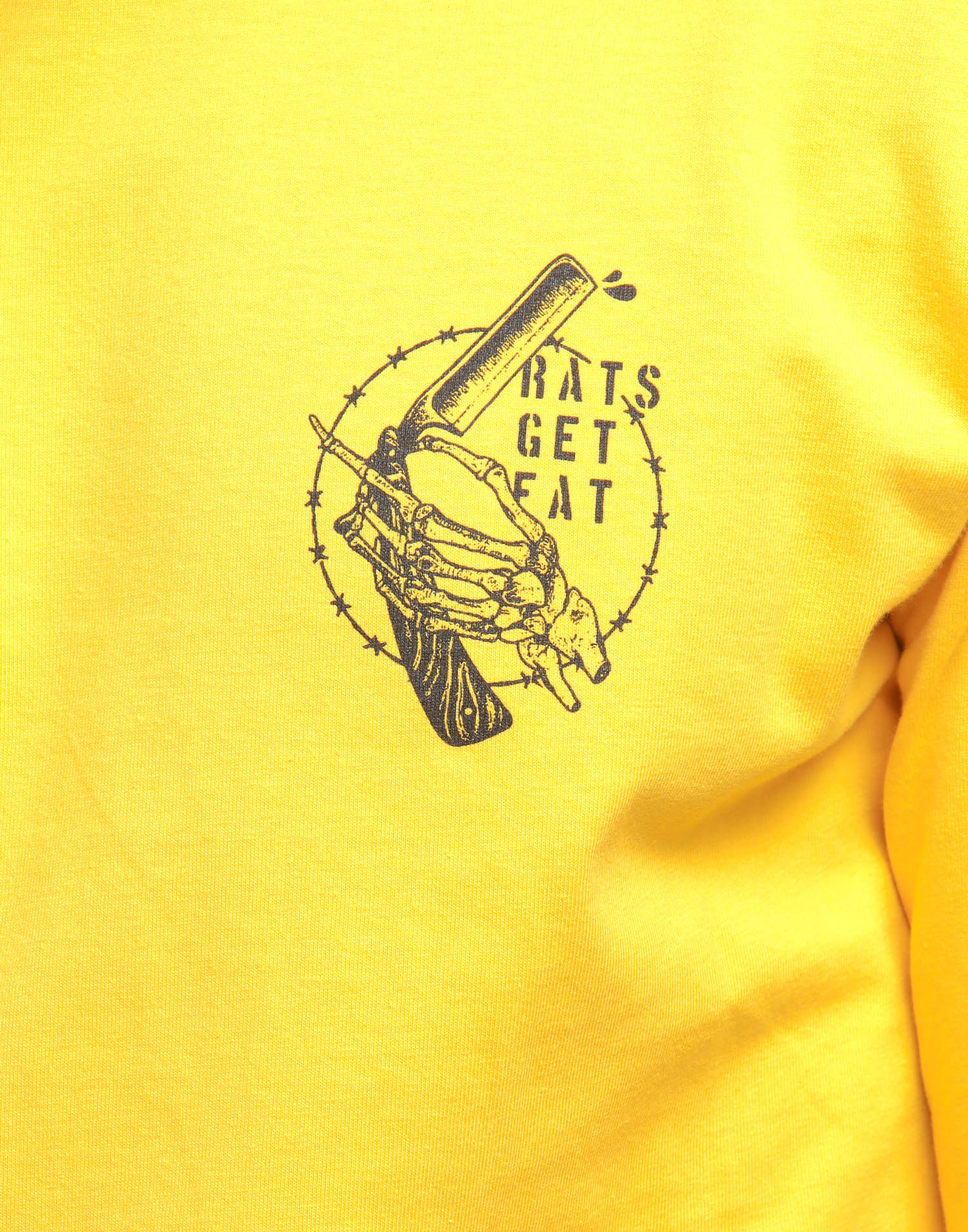 Rats Get Fat Cut Throat Gang LS Tee Mustard