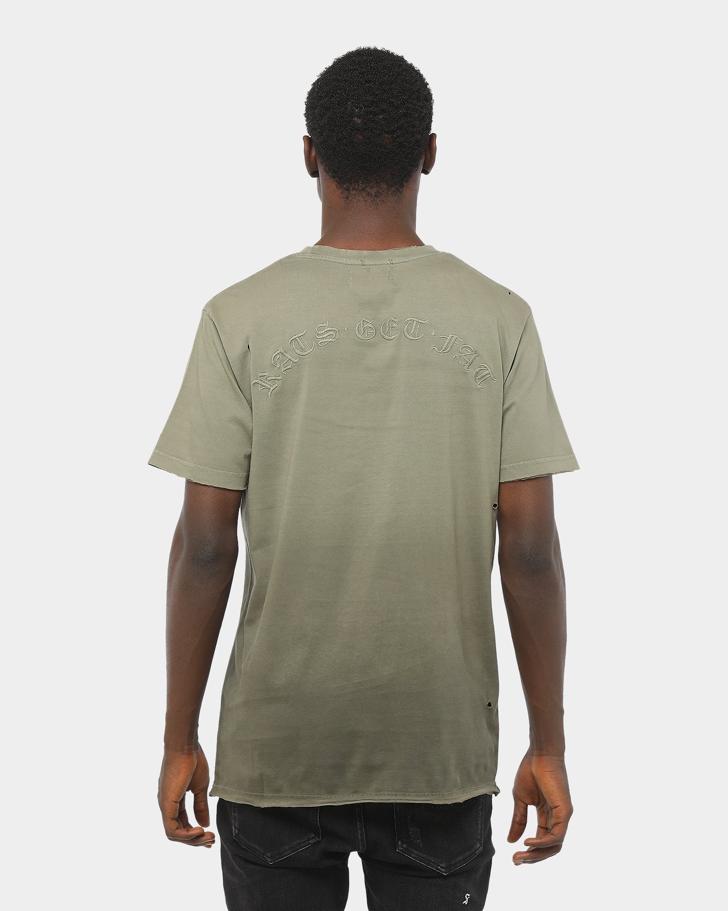 Rats Get Fat Faded Ice Tee Olive Fade