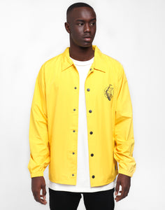 Rats Get Fat Cut Throat Gang Coaches Jacket Mustard