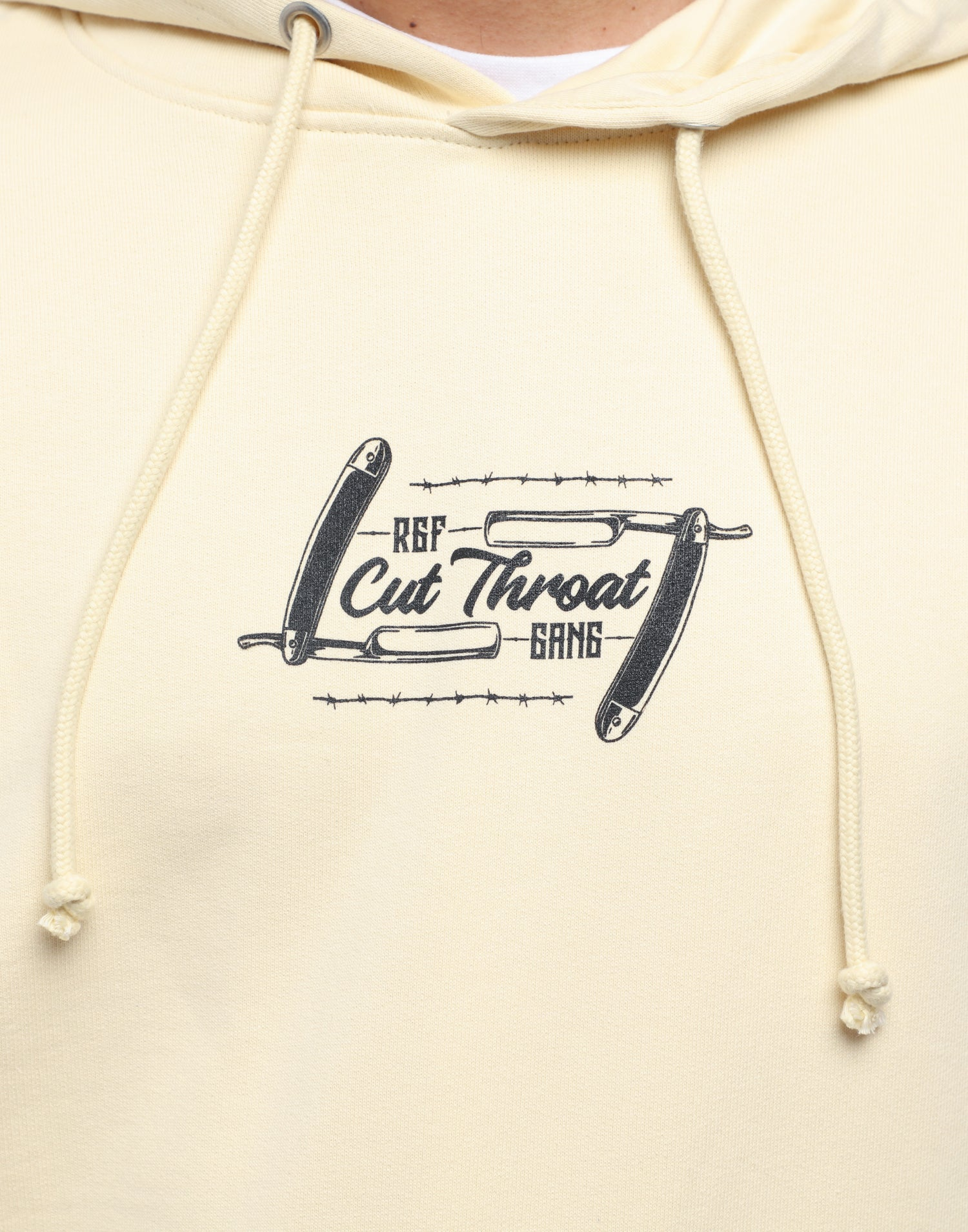 BEEN CUT THROAT HOOD - Cream