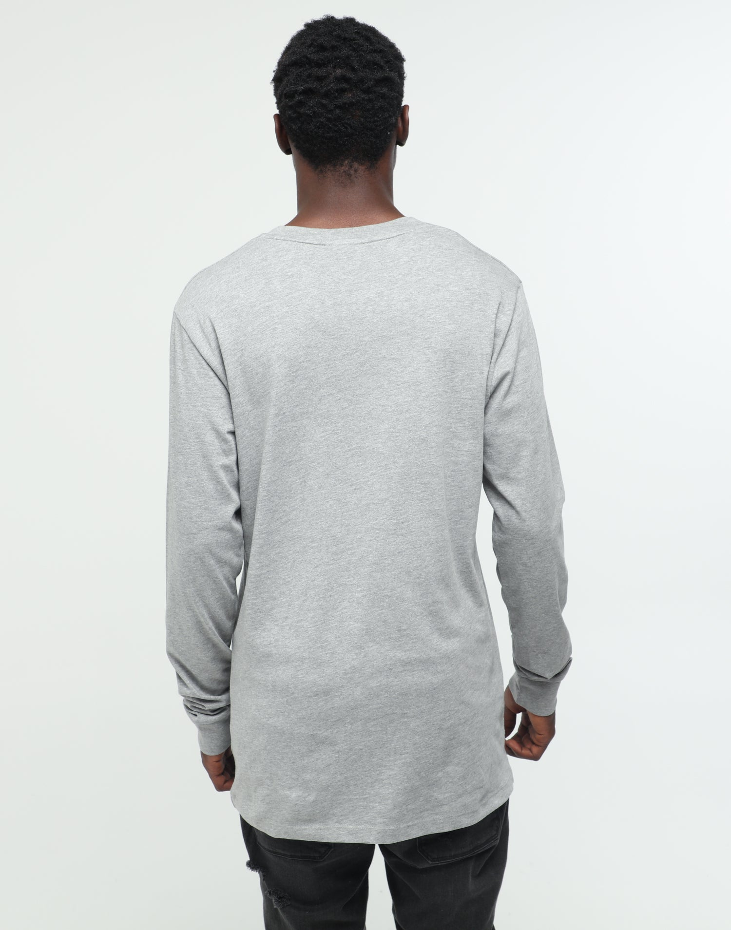 Rats Get Fat Drink Up LS Tee Grey