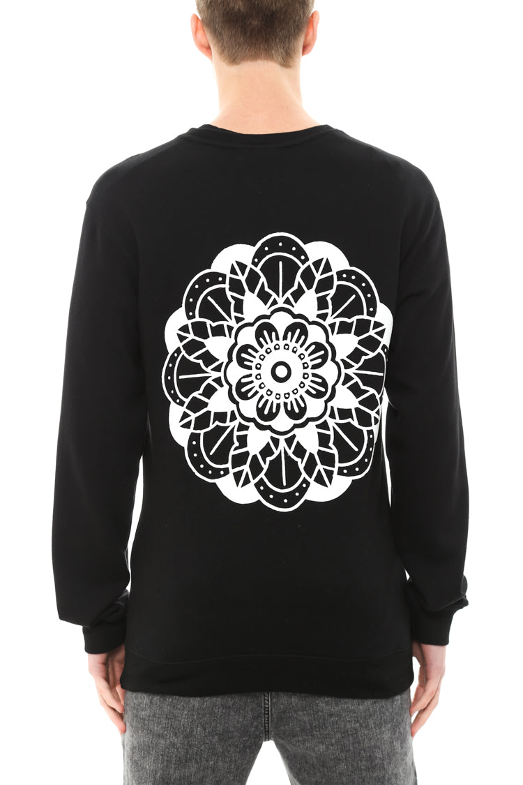 YORKE ROSE CREW NECK - Black