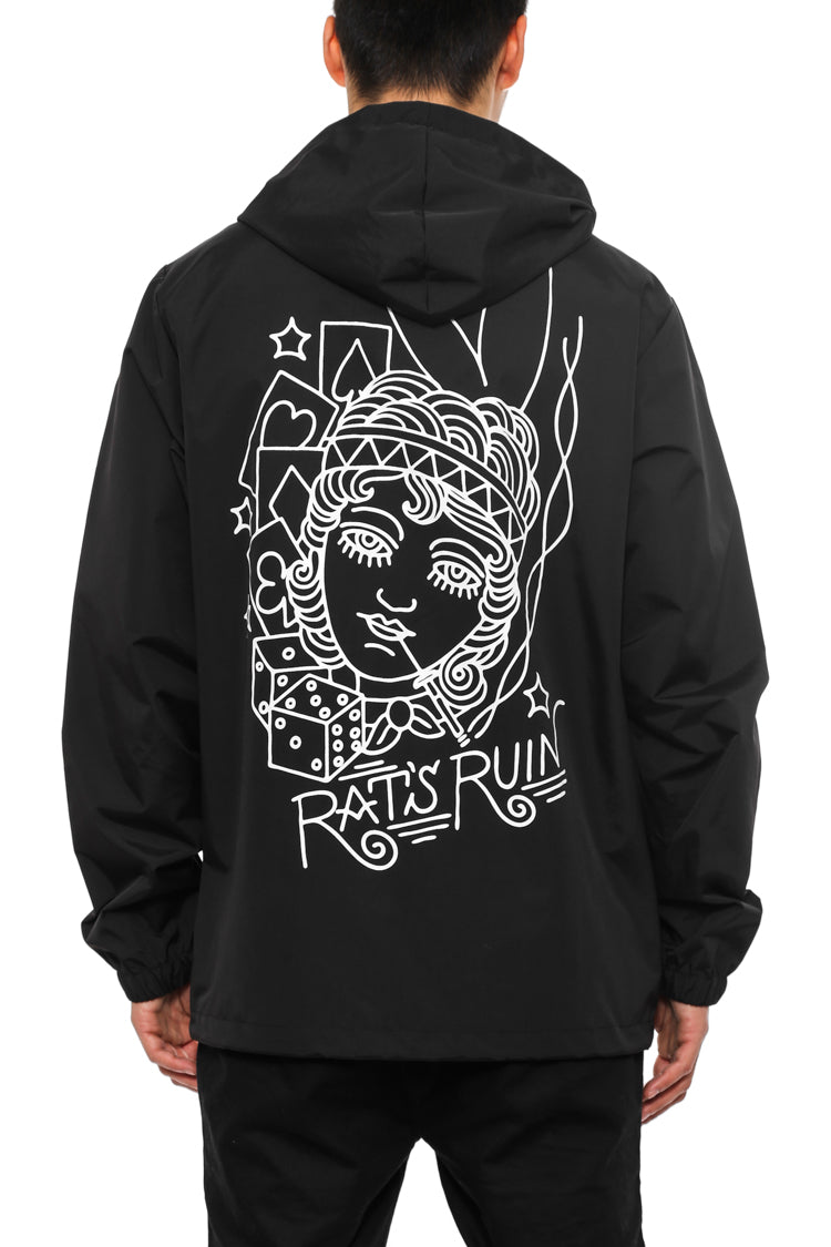 RATS RUIN WINDBREAKER JK - Black