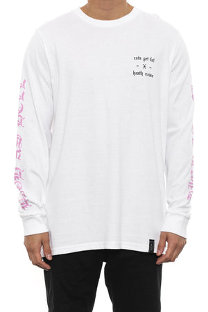 RGF X HC HIGH AS HELL LS TEE - White