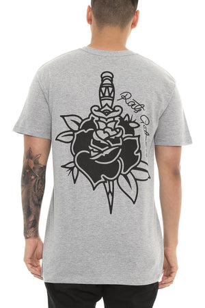 ROSE & DAGGER TEE - Grey