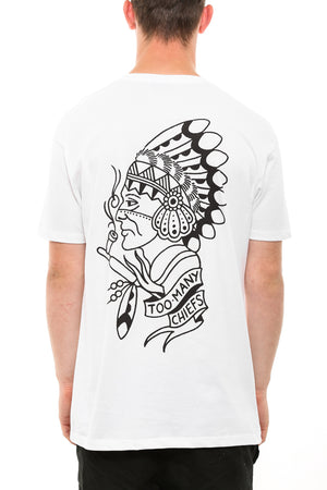 TOO MANY CHIEFS TEE - White