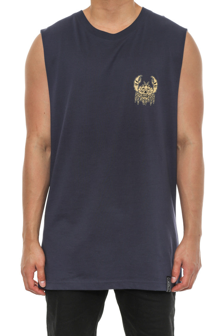 THE CRAB MUSCLE TANK - Navy