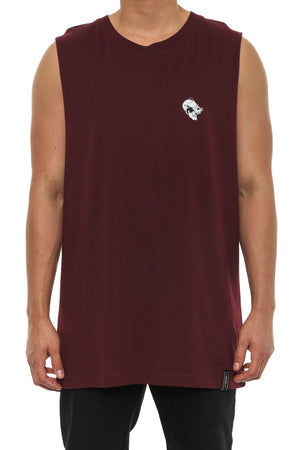 PANTHER MUSCLE TANK - Burgundy