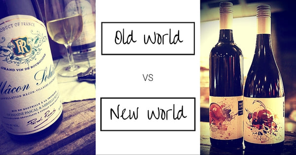 Old World vs New World. Wine Bottles looking good.