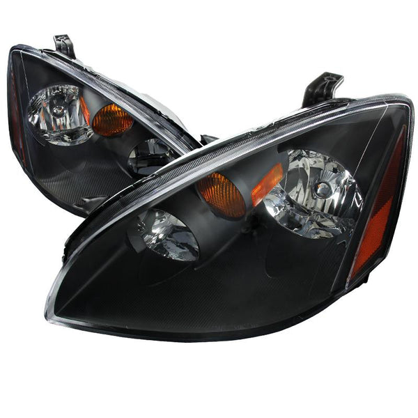 02-05 NISSAN ALTIMA EURO HEADLIGHT BLACK HOUSING