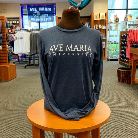 Ave Maria University Diamond Logo Long Sleeve Tee