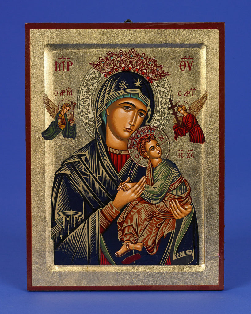 Lady of Perpetual Help (Virgin of the Passion) - Hand-Painted Gold Leaf Icon (by Lumen Mundi)