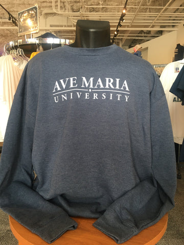 Ave Maria University Crewneck With Diamond By Tultex