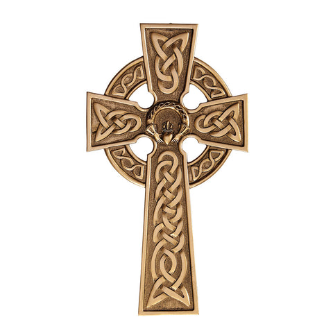 "8"" Calddagh Celtic Cross-Bronze"