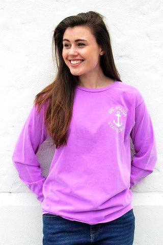 Preppy Ave Maria Florida Long Sleeve Shirt with Chevron Anchor by Blue 84
