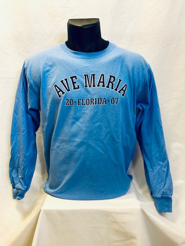 Youth Ave Maria FL 2007 Carolina Blue Long Sleeve T-Shirt